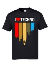 Rainbow Electronic Dance Printed On T Shirts I Love Techno Hip Hop Rock Music Mens Tshirts 3D Fashion Sweatshirt Band