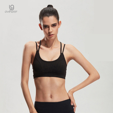 New Fashion Sexy Seamless Sporting Bra Gather Women Underwear Push Up Wirefree Padded Casual Hollow Vest Crop Tops 354