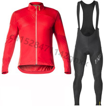 цена на 2019 Mavic New Hot Long Sleeve Red Men Cycling Jersey Set Pro team Breathable MTB Bicycle Cycling Clothing Maillot Ropa Ciclismo