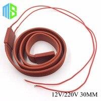 12 V/220 V 30 MM Flexible En Caoutchouc de Silicone Câble Chauffant De Silice Gel Chauffe-Trace Fil Pour Protection Contre le Gel Tuyau d'eau/Voiture/Batterie