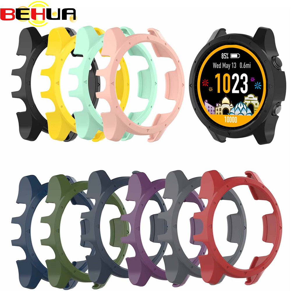 Protective Case Cover For Garmin Forerunner 935 945 Smartwatch Bracelet Dial Case Anti-scratch Shockproof Shell Unisex Colorful