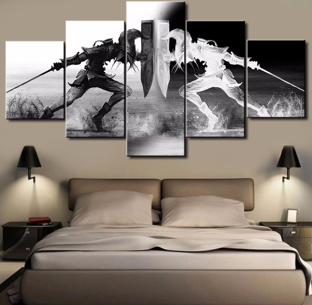 Home interiors and gifts framed art - 5 Piece Modern Home Decor Poster Legend Of Zelda Cuadros Paintings On Canvas Wall Art For Home Decorations Wall Decor Gift
