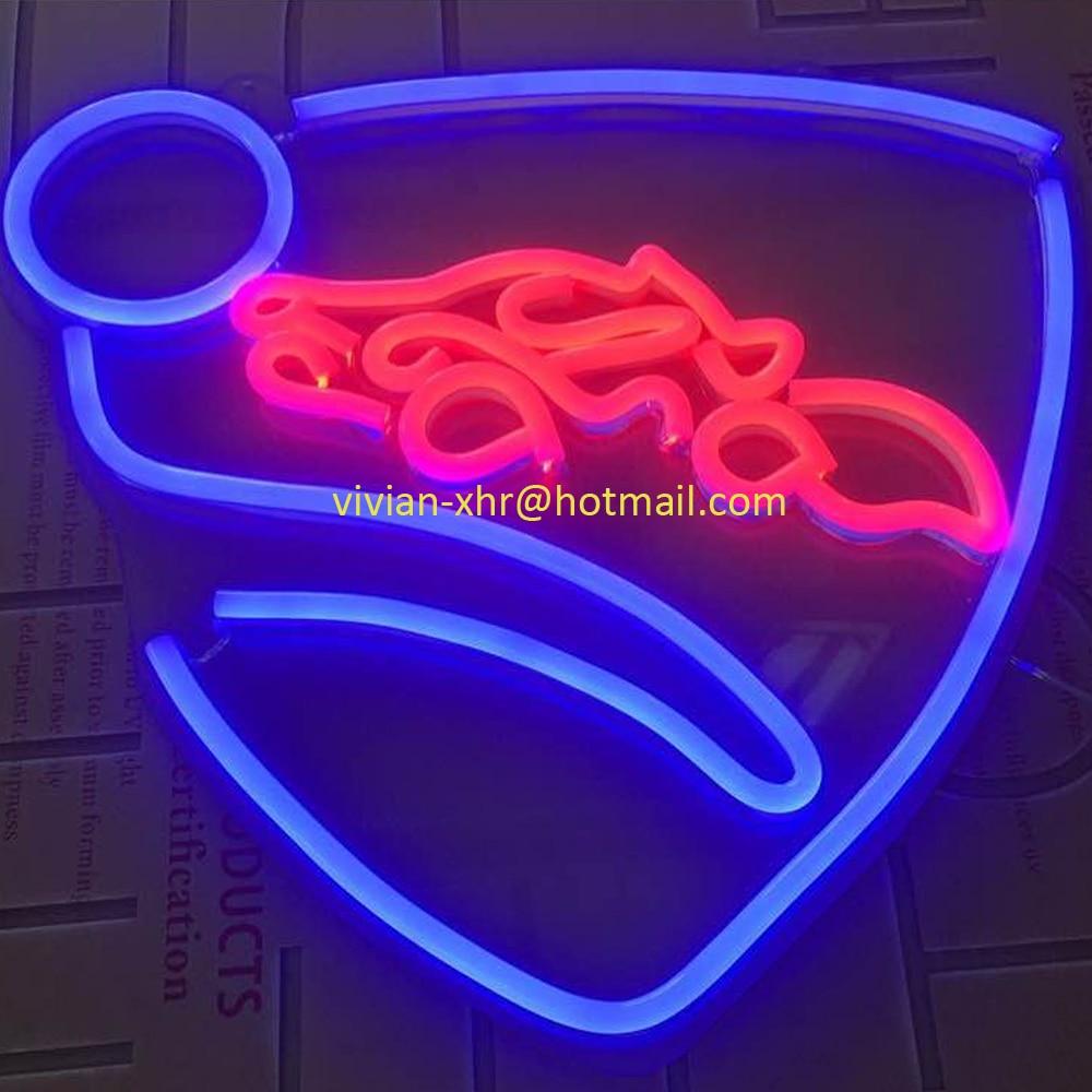 Grand Jeu Personnalisé Néon Lumière Rocket League Logo LED Exhibidor Afiche Acrilico Chambre Décoration Murale Néon Lumière Signe Bière de Club de barre - 3