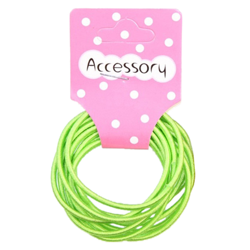 Best Sale New 100pcs Baby Girl Kids Tiny Hair Accessary Hair Bands Elastic Ties Green