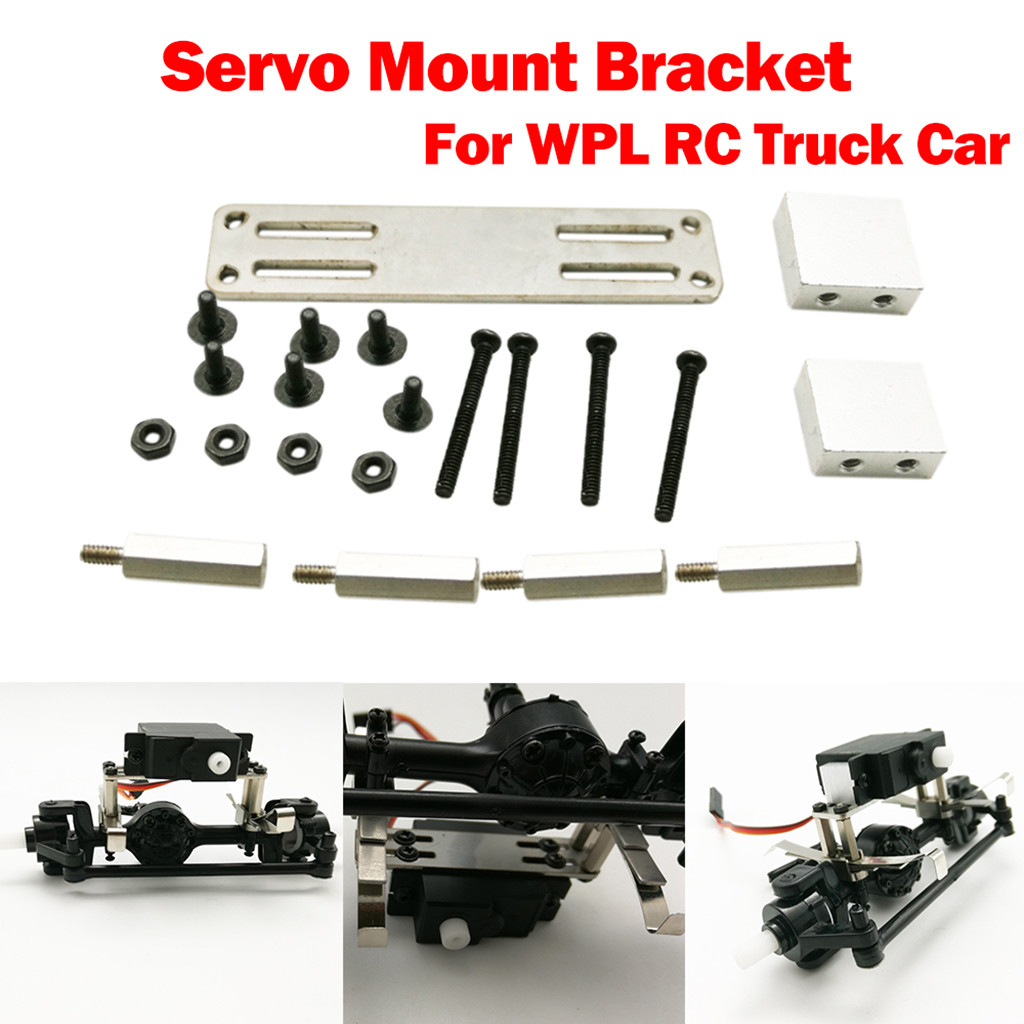 Upgraded Metal Servo Fixed Mount Bracket Kit Parts For WPL RC Truck Car Accessories Toys for Children Кубок