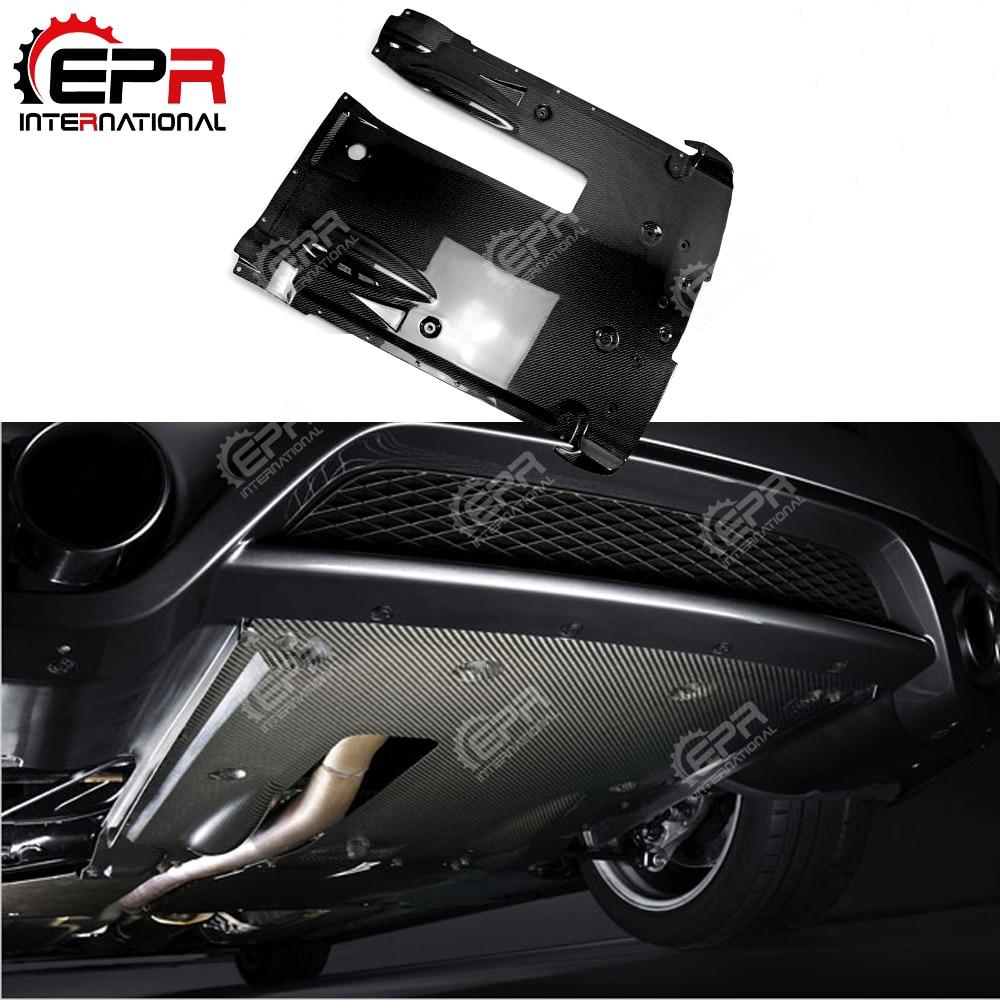 Para Nissan R35 GTR de fibra de carbono trasero debajo de la parte inferior del difusor estilo de coche Kit de cuerpo para GTR R35 2012 OEM estilo de ajuste