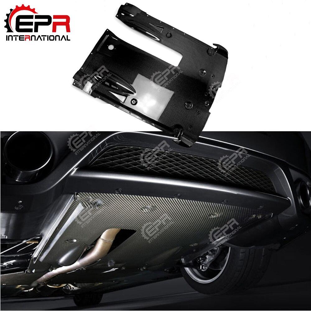 Pour Nissan R35 GTR Fiber De Carbone Arrière Sous Le Fond Diffuseur De Voiture Styling Kit Carrosserie Pour GTR R35 2012 sur OEM style Tuning