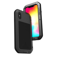 Aluminum Metal Cover For iphone XS Max Waterproof Full Body Heavy Duty Armor Case For iphone XS Max Shockproof Case iphoneXS Max