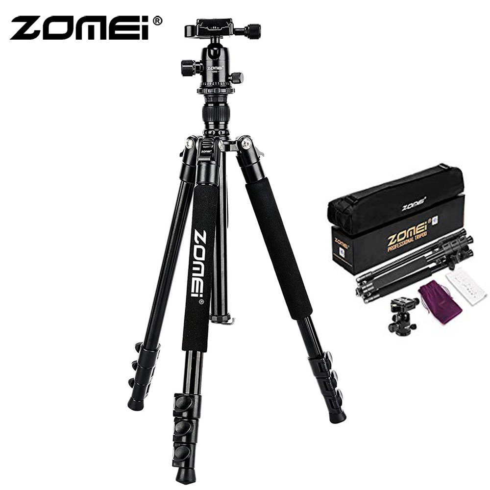 ZoMei Q555 Lightweight Tripod Portable Travel Camera Stand with 360 Degree Ball Head and Carry Bag