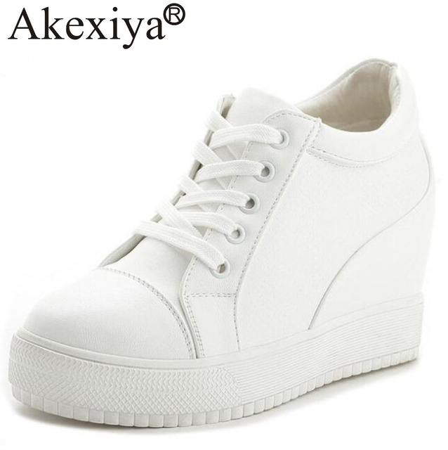 c365dd6b5919 Akexiya All Season Women Running Shoes Female Sports Shoes Hidden Heels  Platform Wedges Sneakers Outdoor Walking Shoes 7cm