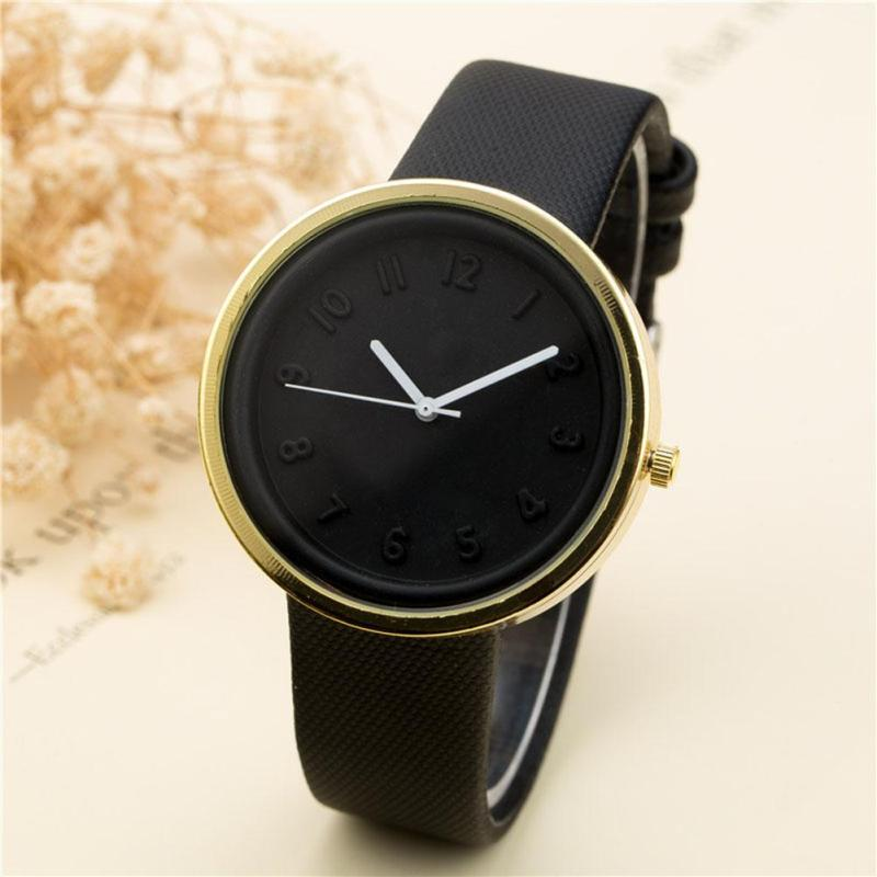 2017 New Fashion Quartz Watch for Women and Men Black  Wristwatch Sport Ladies Watches with Leather Bands Lover Gift 122223 kingsky new fashion small women watches famous design quartz watch black pu leather strap wristwatch