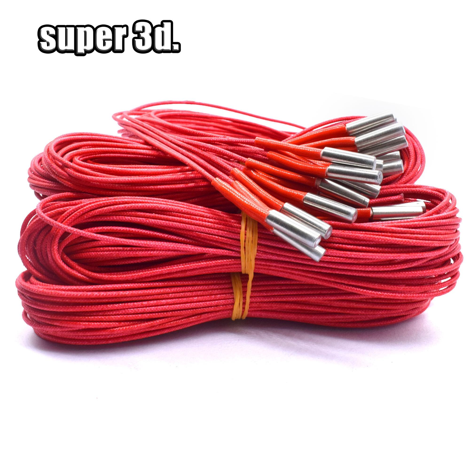 12V/24V 40W Ceramic Cartridge Heater 6mm*20mm 100CM/150CM Cable Lentgth For Extruder 3D Printers Parts Heating Tube