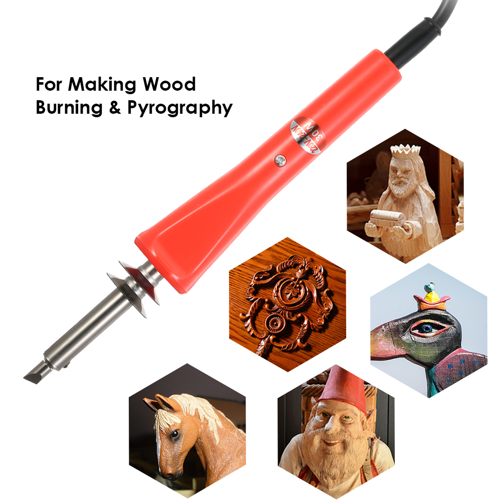 220 240v 30w 28pcs electric soldering iron wood working pyrography tool wood burning engraving. Black Bedroom Furniture Sets. Home Design Ideas