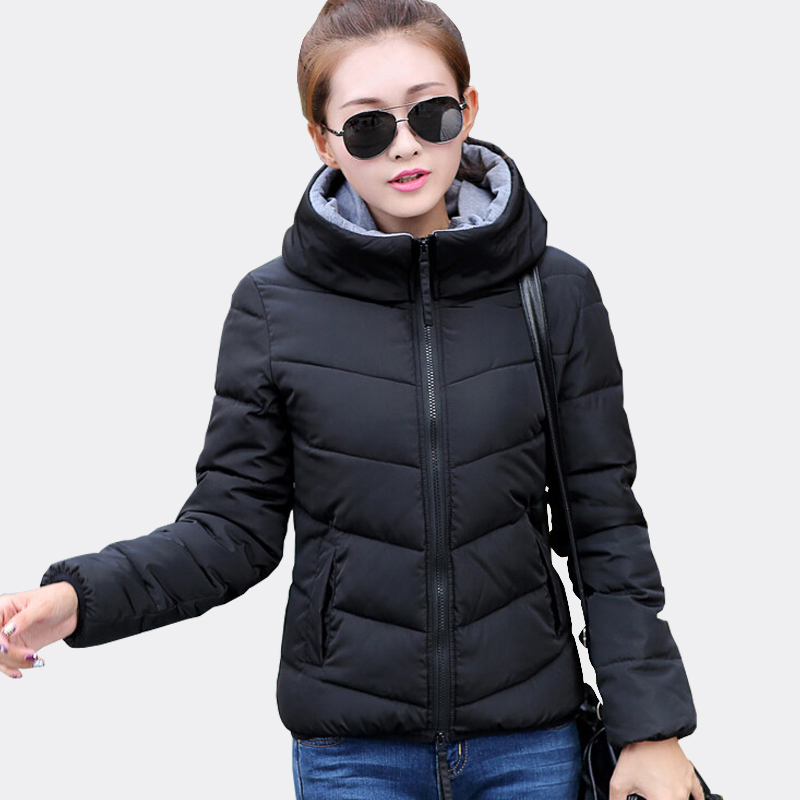winter jacket women 2017 fashion slim short Cotton-Padded Hooded Jacket Parkas Female Wadded Outerwear Winter coats women winter jacket women 2017 new female 5 color slim cotton padded jackets fashion short hooded zipper parkas coats a1013b 16601