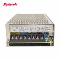 Quad Output SMPS Q 120E 5v 12v 15v 24v dc power supply high efficiency with CE certification