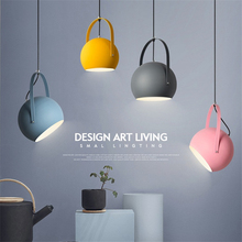 Nordic Style Pendant Lights Creative Dining Room Lamp Modern Simple Bedroom Bar Iron Colorful  Personality Lamp Modern Fixture lican nordic restaurant pendant lights dining room bedroom lamp creative personality bar table lights pendant lamp home decors