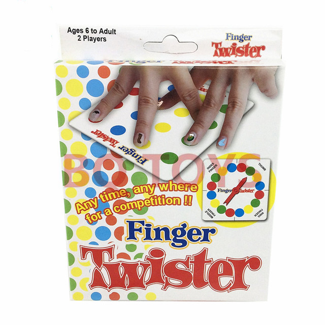 Funny FINGER TWISTER GAME Party Game hot board game for children adults competition toy image