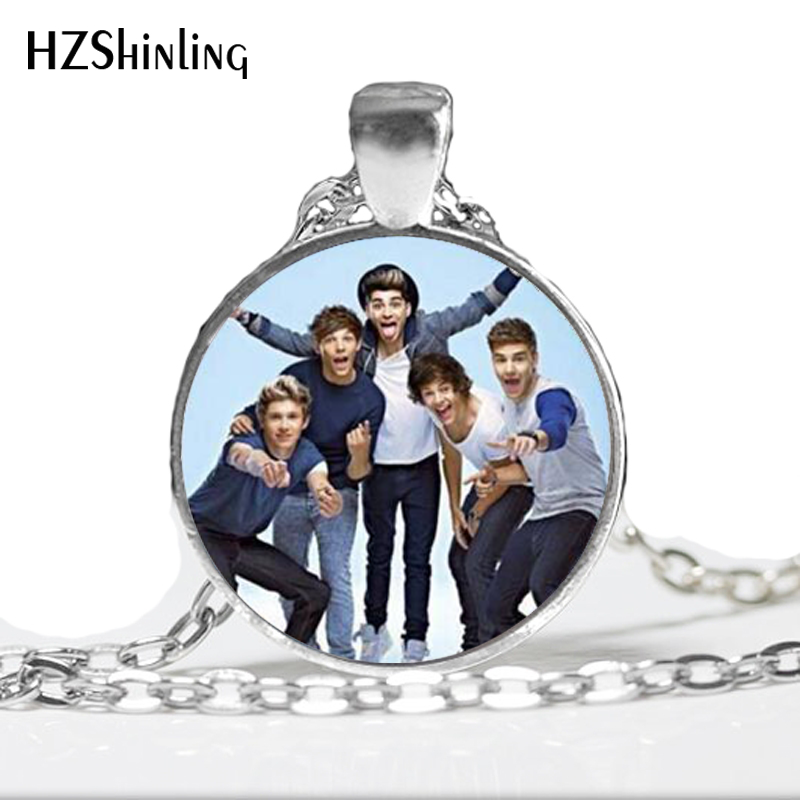 One Direction Jewelry Vintage One Direction Pendant Necklace Fan Favorite Statement Necklace   A-064 HZ1
