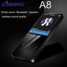 CHENFEC A8 Bluetooth 4 0 MP3 odtwarzacz 8GB wysokiej jakości bezstratnej muzyki odtwarzacz z 1 8 cal FM rejestrator ekranu głośnik MP3 odtwarzacz tanie tanio MP3 WAV Flac Dyktafon Zegar światowy Przeglądarka zdjęć E-czytanie książki Wbudowany głośnik Radio FM HD Wideo MP3
