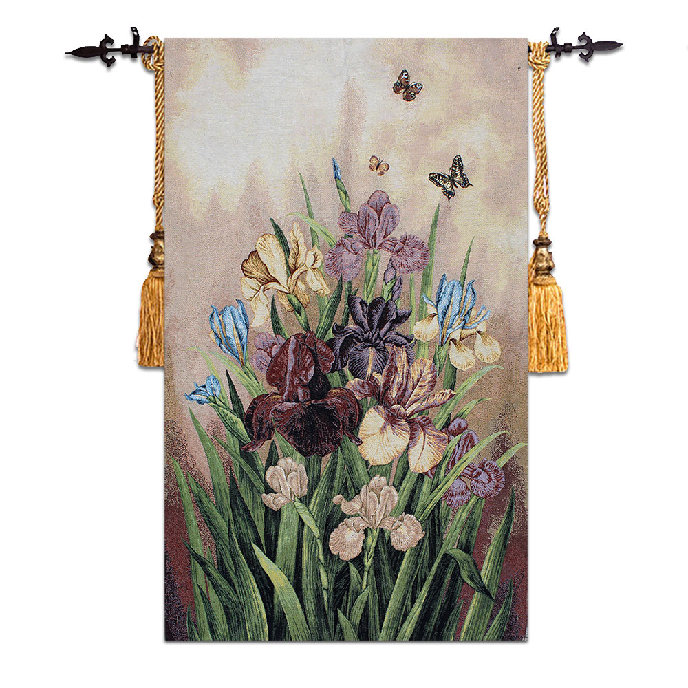 Belgian wall hanging tapestry rural Realistic classic nostalgic decorative murals flowers retro home fabric painting work