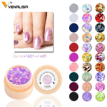 #61502 Venalisa supply UV Gelpolish Nail Gel 180 Colors Pure Color  soak off uv led lamp 5ml Polish Gel paint