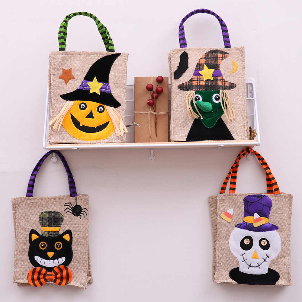 New Halloween Pumpkin Witches Gift Bag Candy Cookie Gift Bag Treat or Trick Candy Gift Storage Pouch Party Supplies