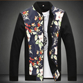 M-8XL!!!!Factory Direct Sale!Spring  New Tide Of High-Grade Fashion Collar Printed Cotton Large Size Leisure Jacket, Men's Brand