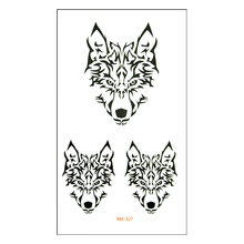 Waterproof Temporary Tattoo Sticker Cool Wolf Water Transfer Fake Tattoo Flash Tattoo For Girl Boy