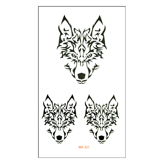 New Waterproof Temporary Tattoo sticker cool wolf Water Transfer fake tattoo flash tatto ...