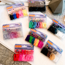 New Girls Children Solid Colors Stretch Elastic Rope Bands Set Cute Candy Hair Gums Rubber For Maker