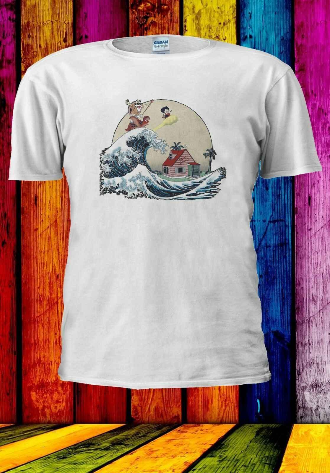 Гоку и мастер Роши кататься на волне мужчины женщины унисекс футболка 938