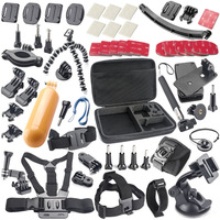 Gopro Accessories Kits Storage Bag Chest Strap Suction Cup Monopod Bobber Etc For Gopro Xiaomi Yi