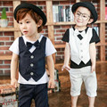 Toddler Boy Clothing Summer Children Back To School Outfit Striped Bowknot Top Pant 2pcs Boy Clothing Set Kids Boy Casual Suit