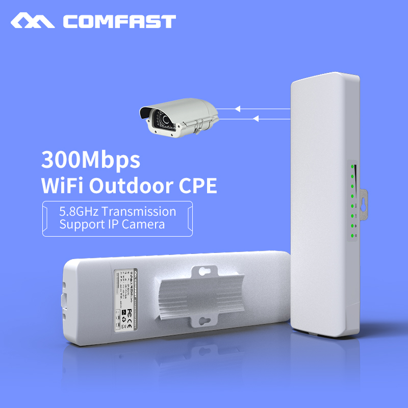 2pcs Wireless CPE 300Mbps 5.8G Comfast CF-E312A Outdoor Waterproof Antenna HIGH POWER AP Wifi Router Access Point Amplifier