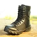 Verano Al Aire Libre Respirables de Los Hombres de Alta Superior Zapatos Botas Tácticas Militares Botas de Los Hombres Botas de Combate Del Ejército de La Manera Hombre