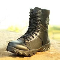 Summer Outdoor Men S Breathable High Top Military Tactics Boots Men Fashion Army Combat Boots Shoes