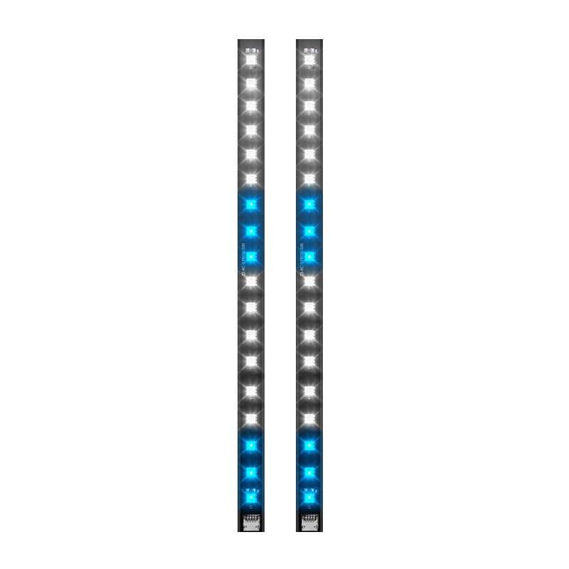 DR12 プロ光ストライプライトバー RGB 赤外線リモコンワイヤレス流れる効果同期マザーボードと同期ファン