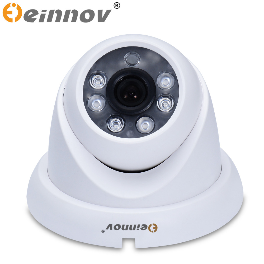 EINNOV Indoor Dome Analog Camera CCTV 1200TVL Optional With audio Night Vision With Auto IR Cut Filter CMOS Sensor home security free shipping sony ccd cctv camera 1200tvl ir cut filter security ir dome camera indoor home security night vision video camera