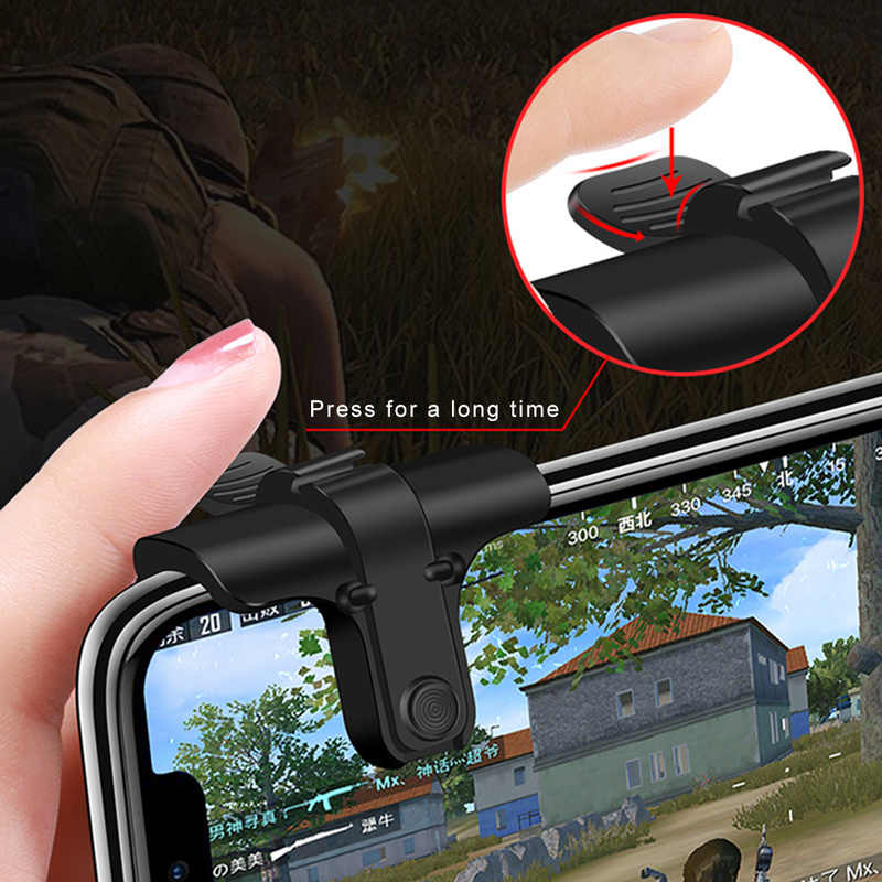 1pair Phone Gamepad Trigger Fire Button Aim Key L1R1 Shooter Controller PUBG V3.0 V6.0 FUT1 For iPhone for Android Phone Games