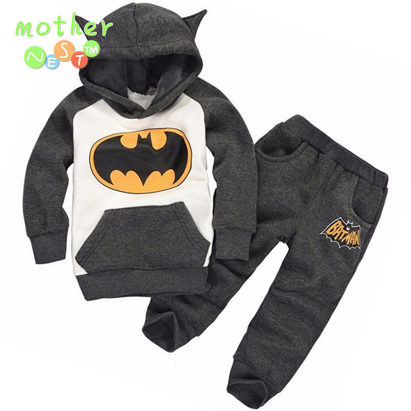 New Batman Baby Girls Boys Clothing Sets Kids Autumn Spring Casual Cotton Suit Children Hoody Coat Tshirt Pants Clothes Set 2015 new autumn winter warm boys girls suit children s sets baby boys hooded clothing set girl kids sets sweatshirts and pant