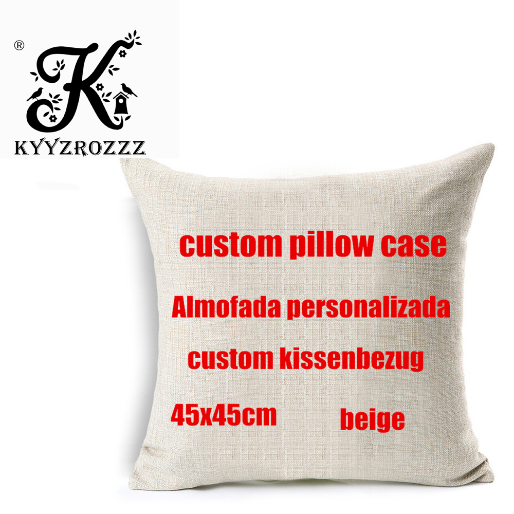 Private Customization Home Decorative Pillows Customize Cushion Cover Personalized Linen Pillowcase Print Photo Image Picture
