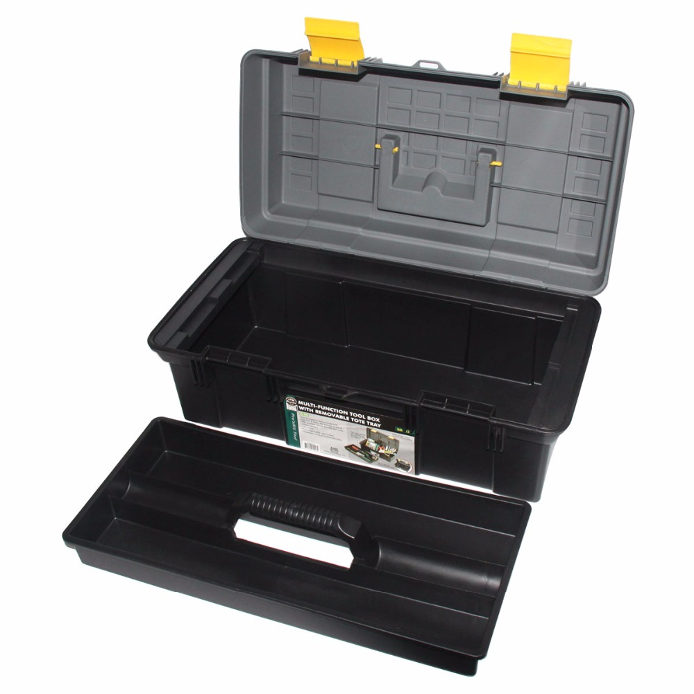 Free Shipping Pro'skit Multi-function Tool Box with Removable Tobe Tray (O.D.:410x210x185mm) Tool Case Toolkit Component Storage