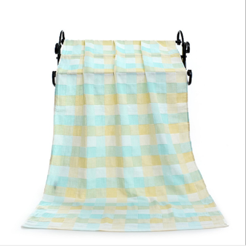 Купить с кэшбэком Cotton Baby Summer Bath Towel 2 Layers Gauze Children Beach Bath Towel Kids Summer Blanket Baby Receiving Wrap Swaddle  70*140cm