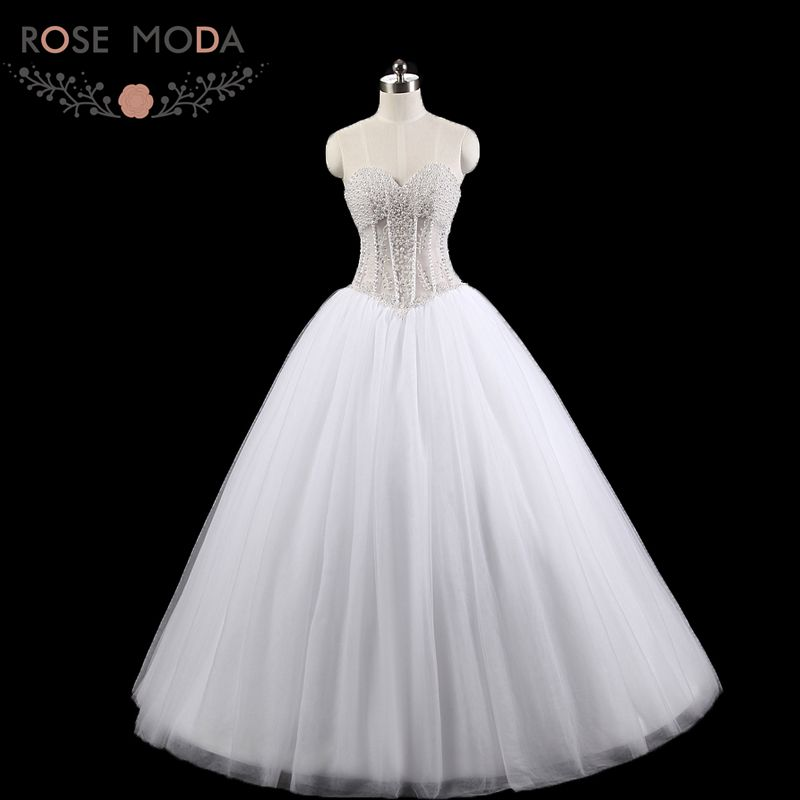 Popular see through corset wedding dress buy cheap see for See through corset top wedding dress