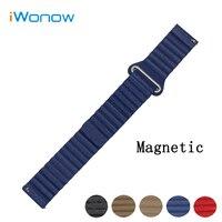 Genuine Leather Watch Band 20mm For Garmin Vivomove Magnetic Buckle Strap Quick Release Wrist Belt Bracelet