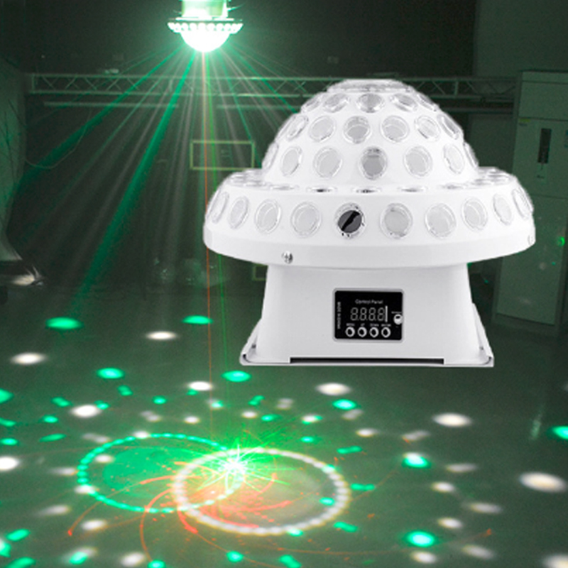 Incroyable éclairage de scène LED laser cosmique cristal boule magique disco KTV chambre privée effet barre de lumière laser rotatif contrôle du son