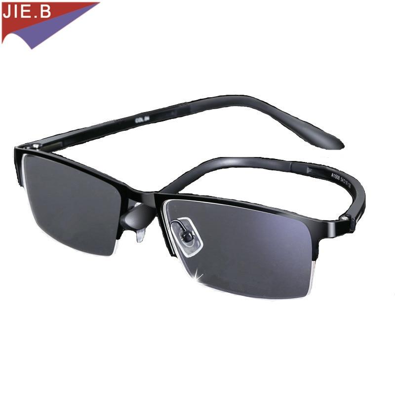 2019 Titan Legierung Geschäfts Angelegenheiten Sonnenbrille Übergang Photochrome Lesebrille Männer Presbyopie Brille + 1,0 Bis + 6,0 Schnelle Farbe