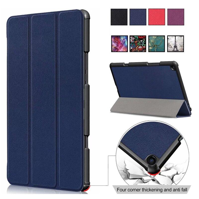 Für Xiao mi mi pad 4 plus Smart Druck Fall Tablet Frosted schild mi PAD4 PC + PU Leder Flip-Cover mi PAD 4 4 PLUS Hülse shell 10