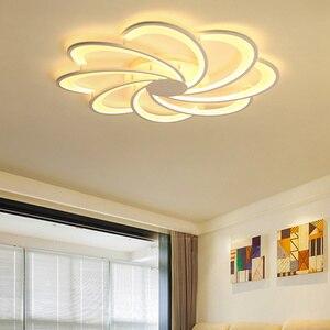 Image 2 - Creativo Fiori luci di soffitto del led per le luci soggiorno camera da letto illuminazione domestica ha condotto la lampada lampara techo lampada a soffitto fixtures