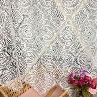 1.5x3 meters/piece European style wedding table cloth diy lace 2018 NEW arrivals geometric design eyelash chantilly lace fabric